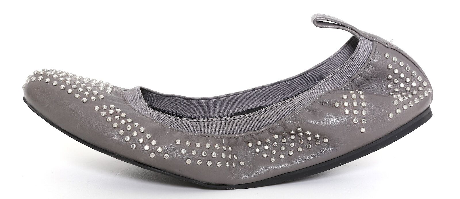 See By Chloe Studded Elastic Leather Ballet Flats Silver Women Sz 36 EUR 2316