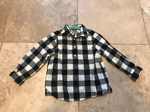 "dc2ba433e EEUC Boy KIDS Bonpoint Shirt Black & White SZ 3 Button Up Shirt ""So ..."
