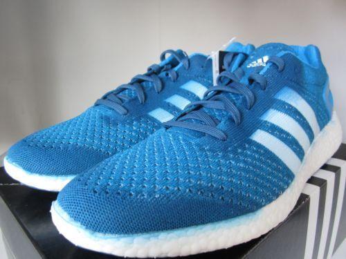 Men's ADIDAS primeknit pureboost m21801 solar bluee size US 6.5 18 266 pairs made