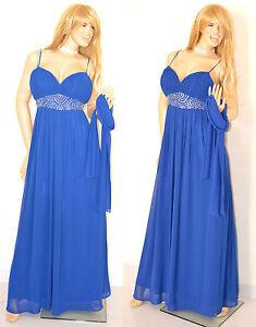 Dettagli su ABITO CERIMONIA vestito lungo BLU elegante donna CRISTALLI dress + STOLA velo 1A