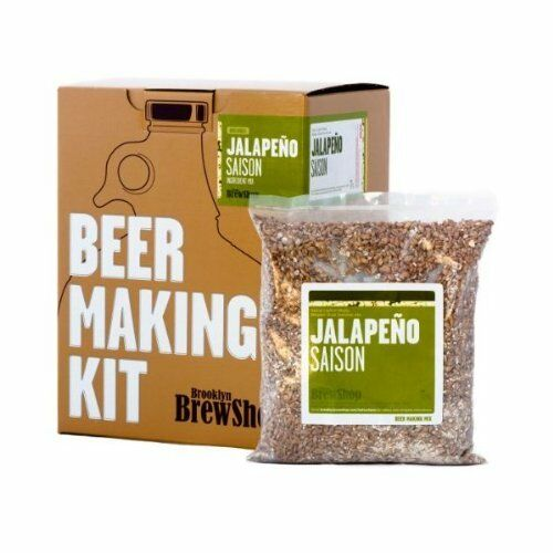 Brooklyn Brew Home Beer Making Kit Grain Hop Yeast Thermometer (Jalapeno Saison)