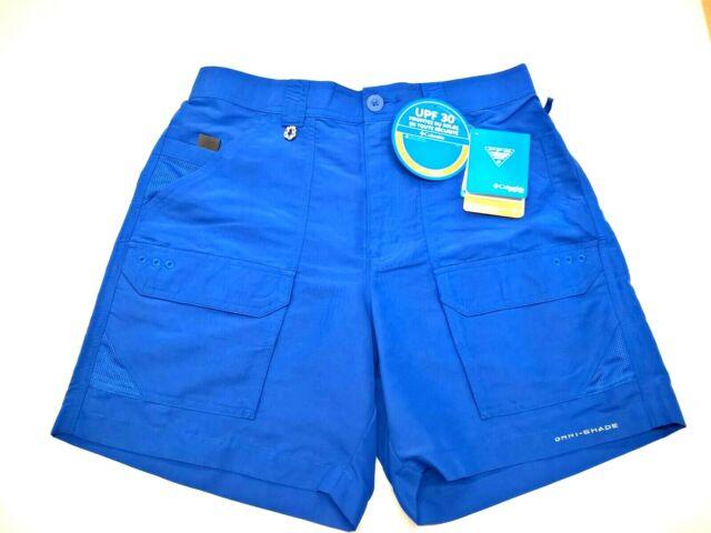 "NWT Columbia Mens PFG Permit II Shorts Omni-Shade Vivid Blue Inseam 10/"" Size 40"