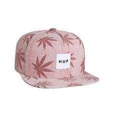 HUF PLANTLIFE BOX LOGO SNAPBACK CAP RED