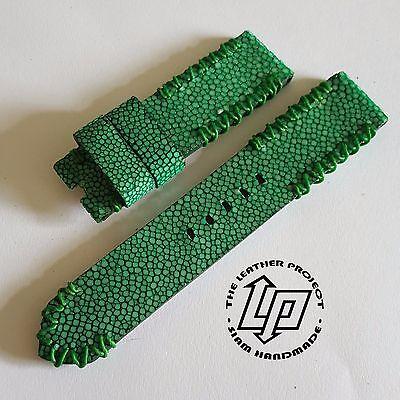 Handmade Green Stingray Watch Strap Band PAM or big watch.