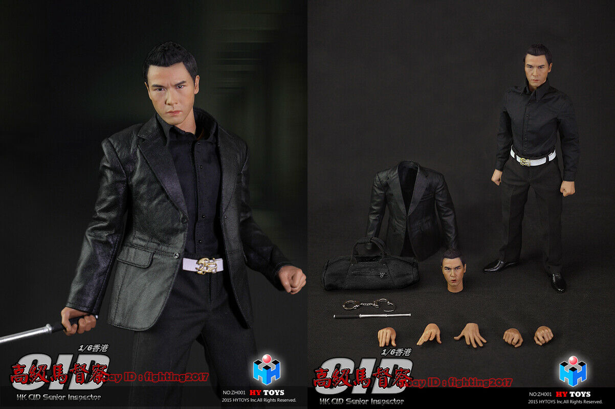 HY TOYS 1/6 Hong Kong CID Senior inspector Ma Sir Donnie Yen Action Toy  INSTOCK