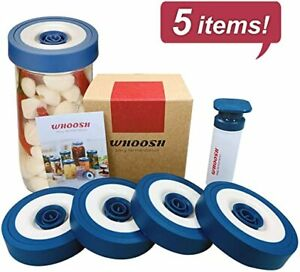 5pc-Wide-Mouth-Mason-Jar-Lids-Airtight-Fermentation-Vacuum-Seal-Storage-Kit-US