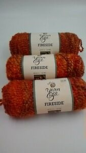 3 Skeins Yarn Bee Fireside yarn  Mandarin color  Bulky Yarn