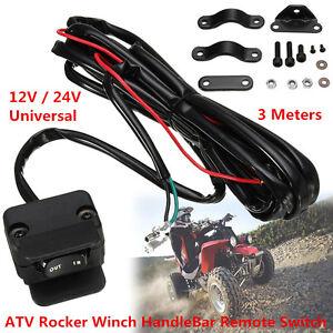 Universal 3 Meter Quad UTV ATV Winch Rocker Switch Handlebar