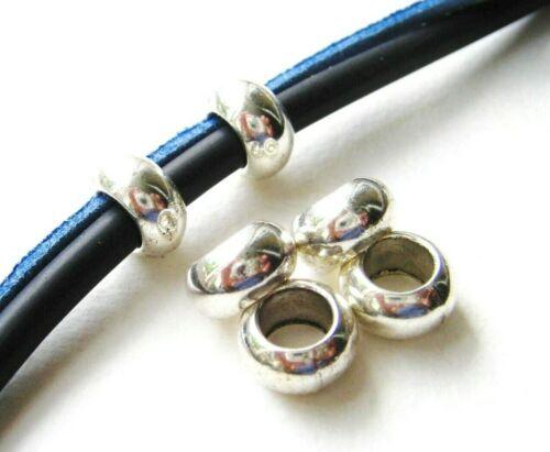 Métal Perles Spacer rondellen 5x10mm pour bandes 5,5 mm 10//50 pièce serajosy