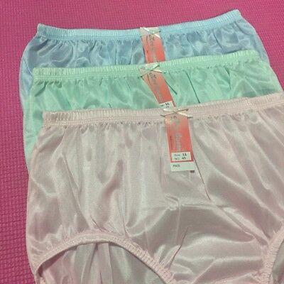 Size L women nylon lacy panties vintage style soft briefs underwear lace cloth