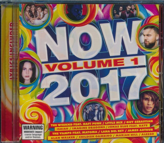 NOW 2017 Volume 1 One Brand NEW CD with Lyrics Guy Sebastian Lana del Rey Alesso