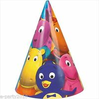 Backyardigans Cone Hats (8) Birthday Party Supplies Paper Favors Nick Jr Pablo