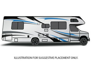 Vinyl Graphics Decal Wrap Kit Large Stripes For Motorhome
