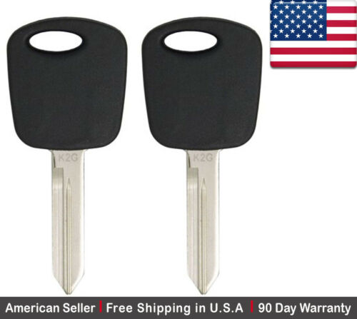 2x New Replacement Transponder Ignition Key For H72 H72-PT 4C CHIP For Ford