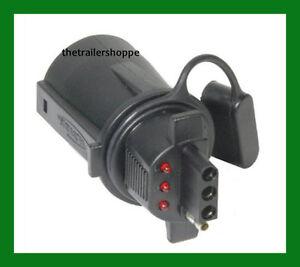 trailer light adaptor converter 7 rv to 4 pin lighted tester rh ebay com