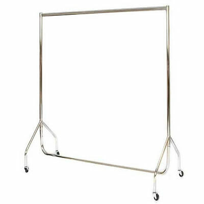 Stylish Deluxe 4ft ALL CHROME CLOTHES RAIL Stronger than Normal Rail Frame 1524
