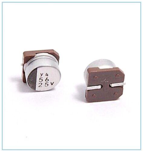 56UF 25V NICHICON SMD ALUMINUM ELECTROLYTIC CAPACITORS.8X6MM 25V56UF 10PCS