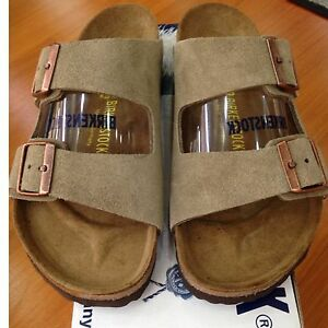 Birkenstock Arizona 051461 Size 40 L9M7 Regular Taupe Suede Leather ... 07a79d4ed2be