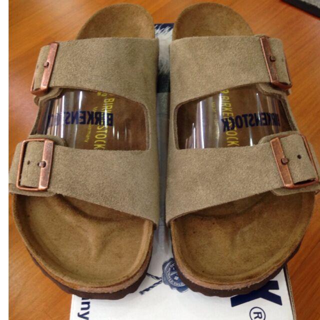 1b4acb16f Birkenstock Arizona 051461 Size 40 L9M7 Regular Taupe Suede Leather Sandals