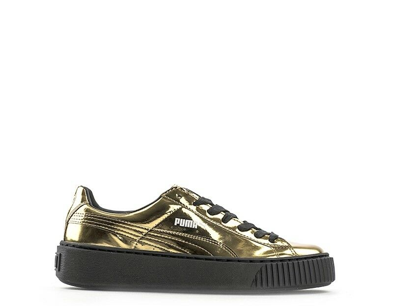 shoes PUMA women SNEAKERS  gold Laminato 362339-04