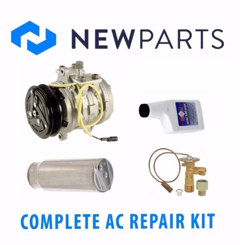 For Geo Metro 1994 Complete AC A//C Repair Kit w// Compressor /& Cclutch Brand