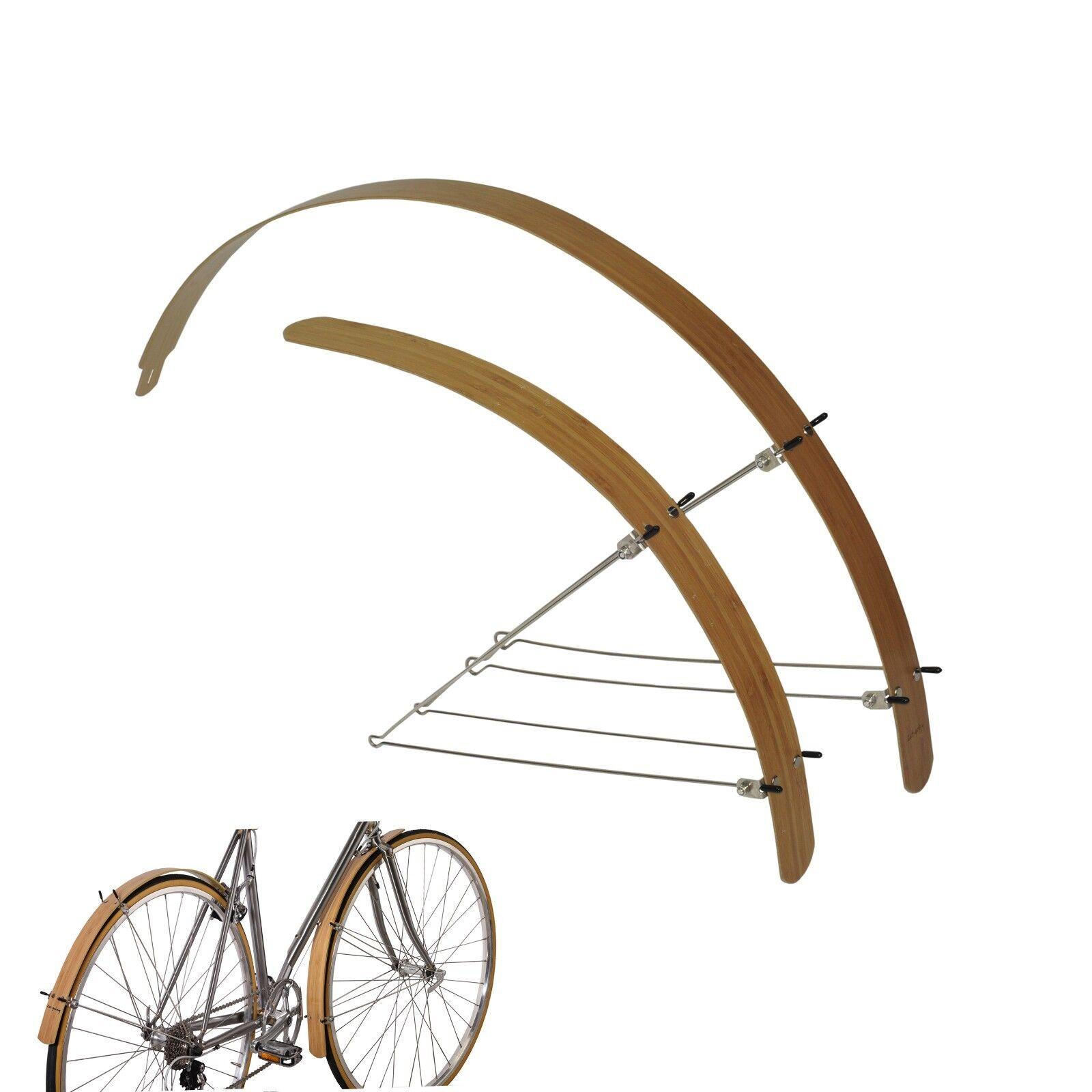 Bike Fender Bamboo  Wood Flat For  20   24  26   Road City 700C Width 45mm  best price