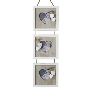 Shabby-Wooden-Chic-Triple-Photo-Frame-Hanging-Heart
