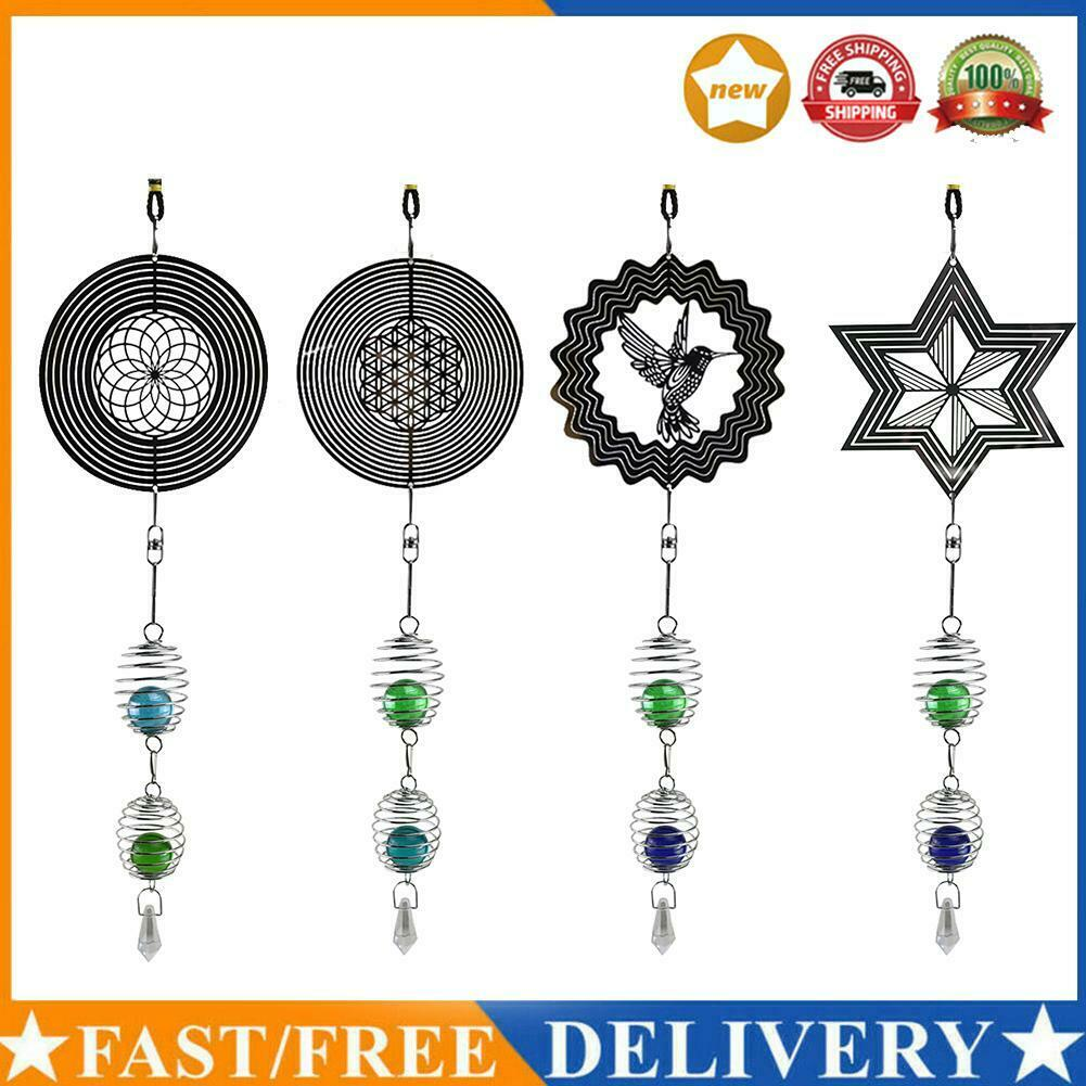 DIY Rotating Wind Chime Novelty Sculpture Wind Chime with Spiral Tail Ball