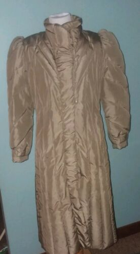 Vintage Down Puffer Trench Coat OPERA