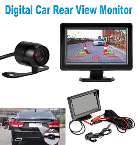 """NIGHT VISION CAM REVERSING CAMERA CAR REAR VIEW KIT 4.3/"""" TFT LCD MONITOR"""