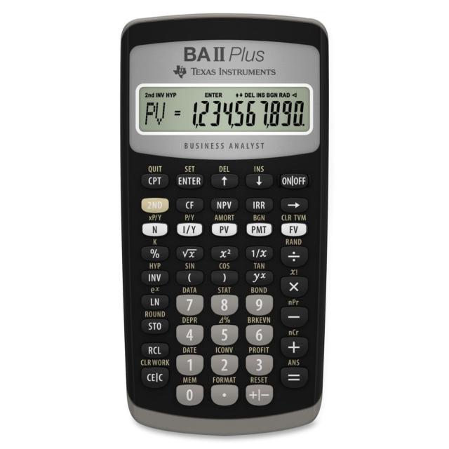 /Nuevo Texas Instruments TI BA II Plus Calculadora Financiera/
