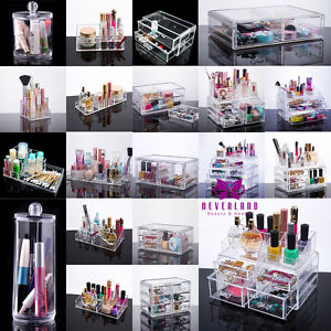 Acrylic-Makeup-Box-Cosmetic-Drawer-Holder-Storage-Case-Jewellery-Organiser-Clear