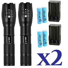 Flashlight WF502B T6 LED 2000LM Torch light 18650 Charger light Pip new.