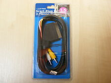 1.5m Scart a 3 connettori RCA Audio Maschio Visual Cavo AV cavo Doppio 1.5m
