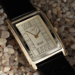 Charles-Rennie-Mackintosh-Gold-Plated-Man-039-s-Size-Watch