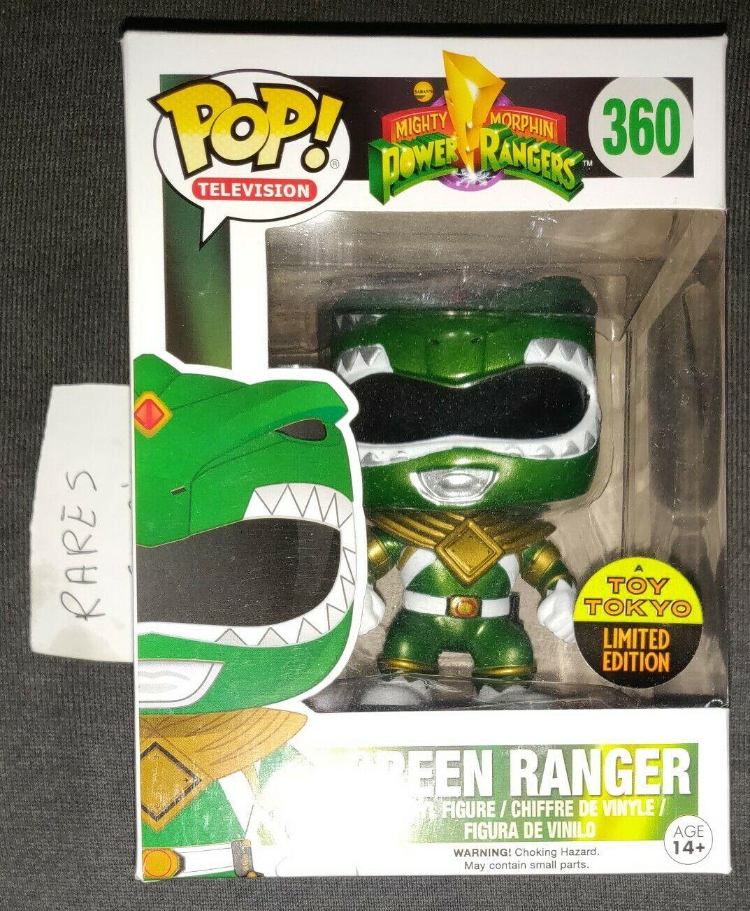 Funko Pop  verde Ranger Toy Tokyo NYCC Exclusive Power Rangers 360 2016