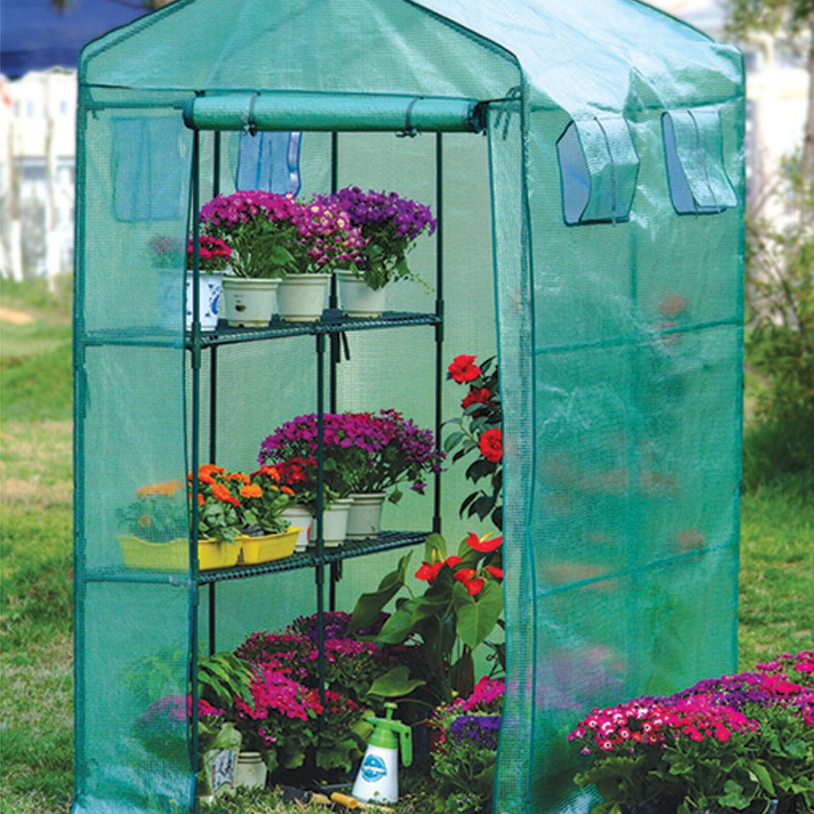 Serra alluminio+telo plastificato antistrappo giardino 120x174x210h cm 3 ripiani