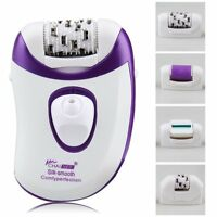 4in1 Rechargeable Cordless Electric Hair & Callus Remover Lady Epilator Shaver