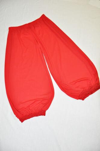 MYO-Lagenlook JERSEY Aladin-Ballonhose Crash-Ansatz ROT 48,50,52,54 XL-XXL-XXXL