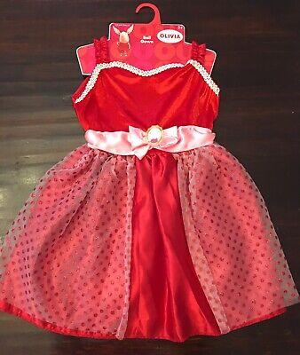 Olivia The Pig Dress Up Dress Just Play Ball Gown Costume Dress Girls 3 5 Ebay