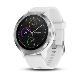 Garmin-Vivoactive-3-GPS-Smartwatch-White-Stainless