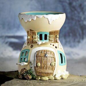 AROMALAMPE-aus-Keramik-ca-14-cm-hoch-einteilig-ca-100ml-Honiglicht-Keramik