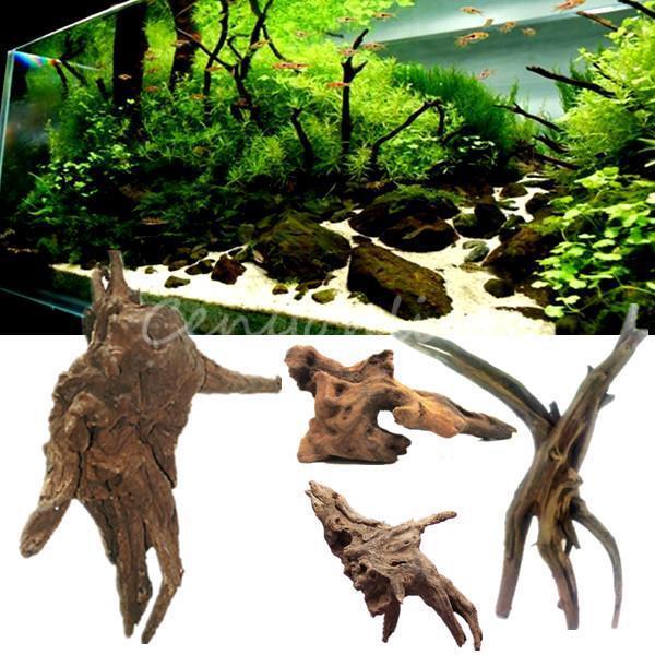 Aquarium Ornament Driftwood Cuckoo Tree Root Trunk Stump Fish Tank Water Decor