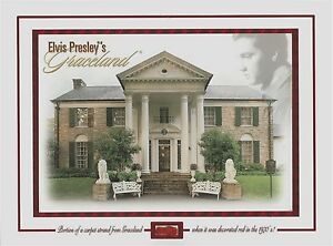 RED-CARPET-strand-piece-swatch-GRACELAND-1970-039-s-living-room-Elvis-owned-relic