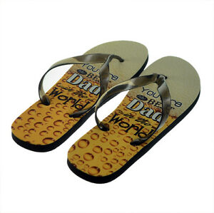 You're the Best Dad in the World Flip Flops Mens One Size UK 8-11 XFFS046