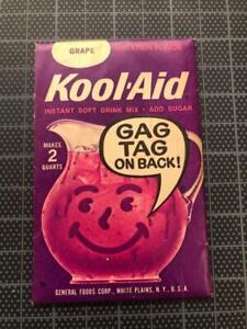 VINTAGE 1960's KOOL-AID FULL PACK Sealed Mip GRAPE FLAVOR old stock w/ GAG TAG !