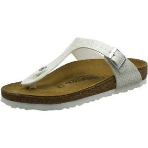 Adult About Flat Gizeh White Sandals Magic Snake Details Birko Birkenstock Flor PwkO08nX