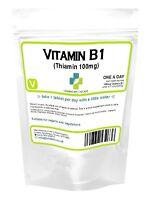 Vitamin B1 100mg, Thiamin/thiamine, (100/1000 Tablets) Mosquito, Energy