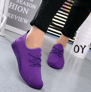 New-Womens-Outdoor-Sports-Shoes-Mesh-Breathable-Casual-Sneakers-Running-Shoes