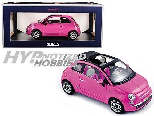 NOREV 1 18 2010  FIAT 500 DIE-CAST rose 187752  le plus préférentiel